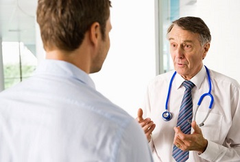 Patient Consulting Male Doctor