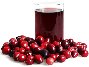 Fresh Cranberries and Glass of Juice