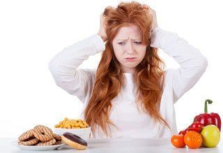 Stress Woman Experiencing Emotional Eating