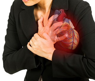 Woman Pressing Her Heart